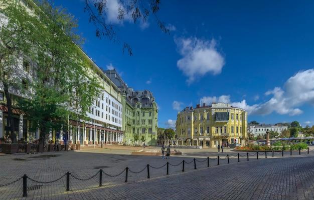 Plaza de grecia en odessa, ucrania