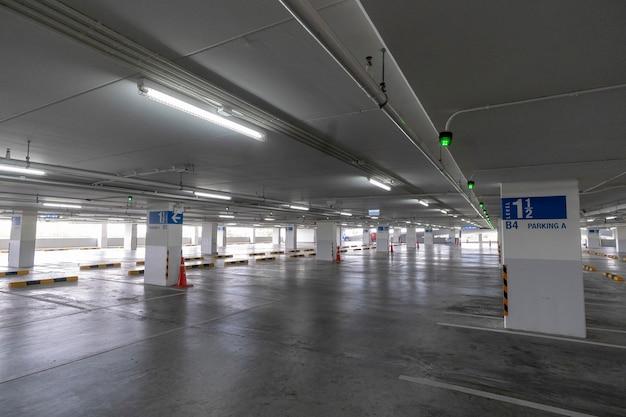 Plaza de parking en grandes almacenes.