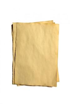 Pocas piezas antiguas en blanco del manuscrito o pergamino de papel antiguo desmoronado.