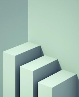 Podio 3d para maquetas para presentación de productos, fondo abstracto de color pastel, renderizado 3d