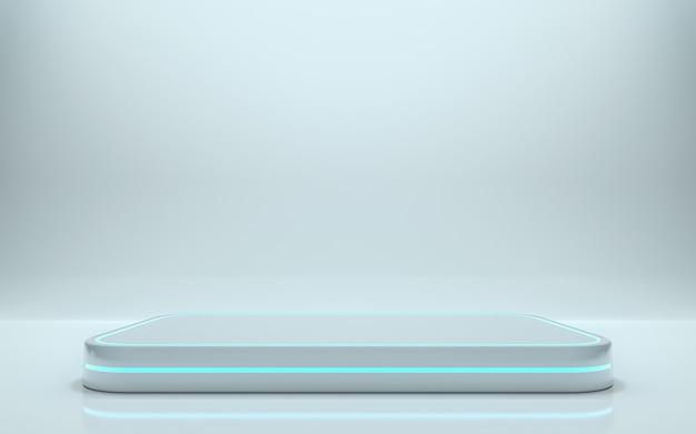 Podio en blanco para producto. representación 3d - ilustración