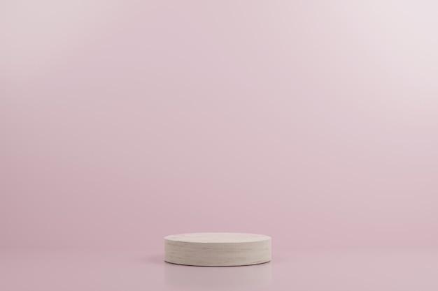 Podio de maqueta moderna rosa simple