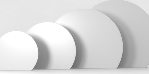 Podio de renderizado 3d para productos de lujo