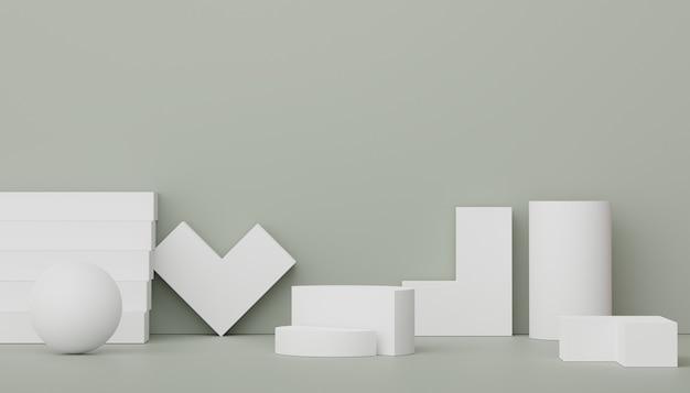 Podio de visualización de render 3d para presentación de productos y cosméticos escena mínima para publicidad