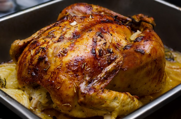 Pollo asado entero