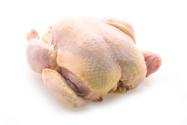Pollo crudo entero