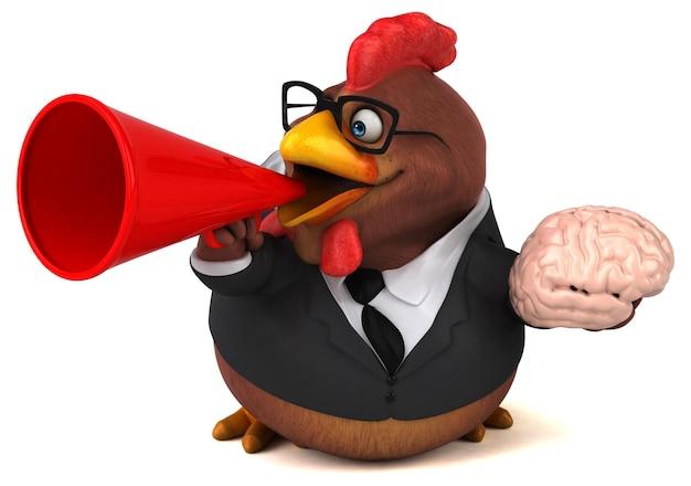 Pollo divertido - ilustración 3d
