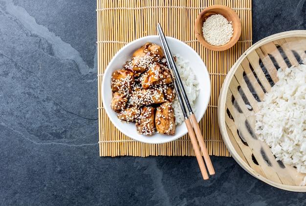 Pollo teriyaki con arroz