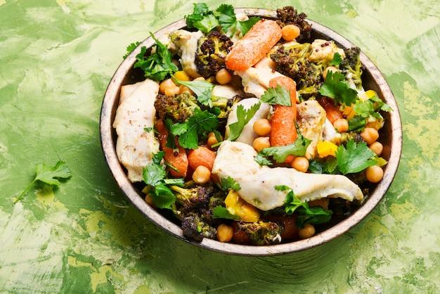 Pollo con verduras y picante