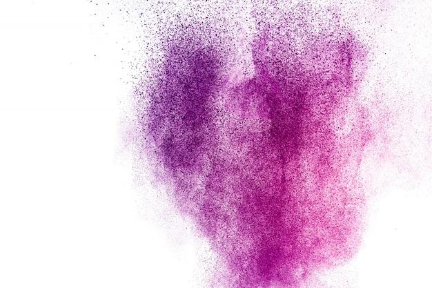Polvo colorido explotar. pintar holi
