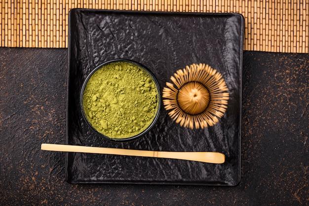 Polvo de té verde japonés matcha