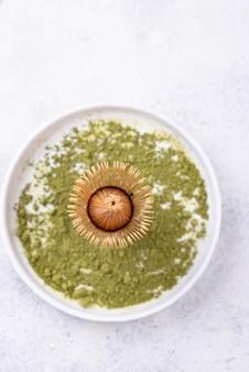 Polvo de té verde matcha japonés