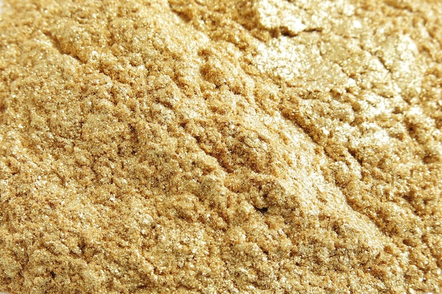 Polvos de mica dorada en polvo para cosméticos