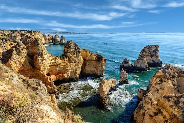 Ponta da piedade en lagos, portugal