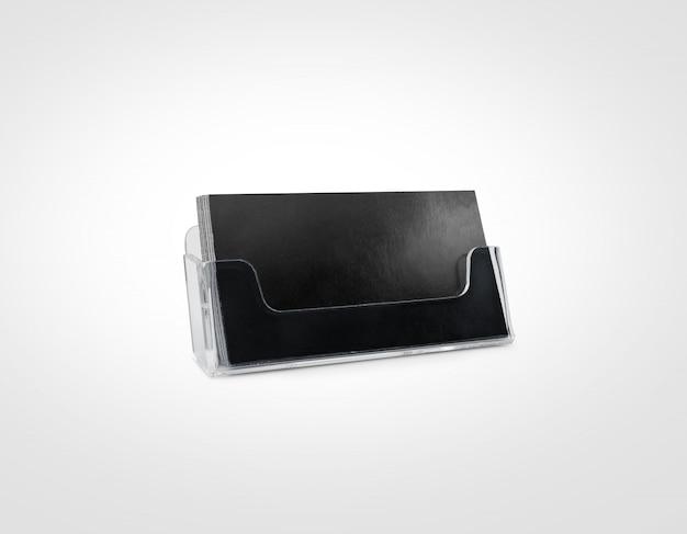 Porta tarjetas negro aislado