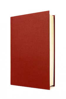 Portada del libro frontal dura de color rojo