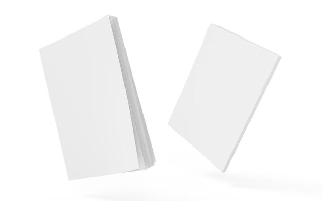 Portada del libro maqueta clara bloc de bocetos plantilla vacía modelo de revista vista en perspectiva concepto de revista