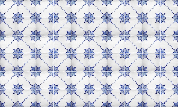 Portugal inconsútil o españa azulejo fondo de azulejo