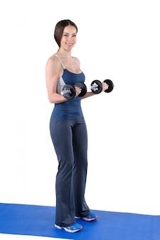 Posición final de flexión de bíceps