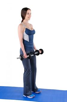 Posición inicial de flexión de bíceps