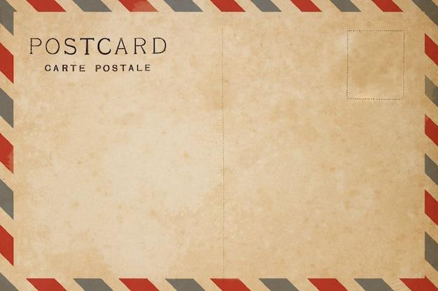 Postal en blanco de la parte posterior del correo aéreo.