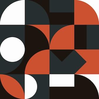 Póster de arte minimalista de geometría con forma simple y figura diseño de patrón de vector abstracto