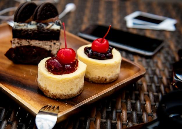 Postre dulce pastel sabroso panadería suave