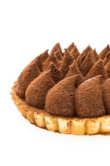 Postre de tarta de chocolate