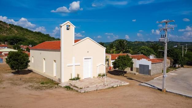 Povoado barra, rio grande do norte, brasil - 12 de marzo de 2021: town bar town. localidad de barra localidad donde se grabó la película bacurau