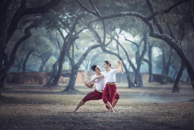 La práctica de la pantomima en tailandia