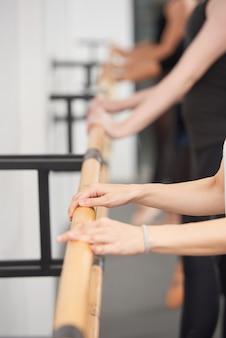 Practicando ballet