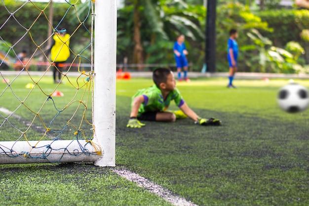 Prácticas de fútbol juvenil.