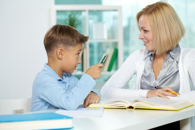 Preescolar pupila sitio schoolkid estudio