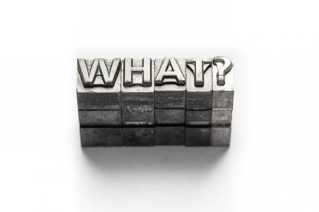 Pregunta palabra, quién, qué, cuándo, dónde, por qué, tipografía