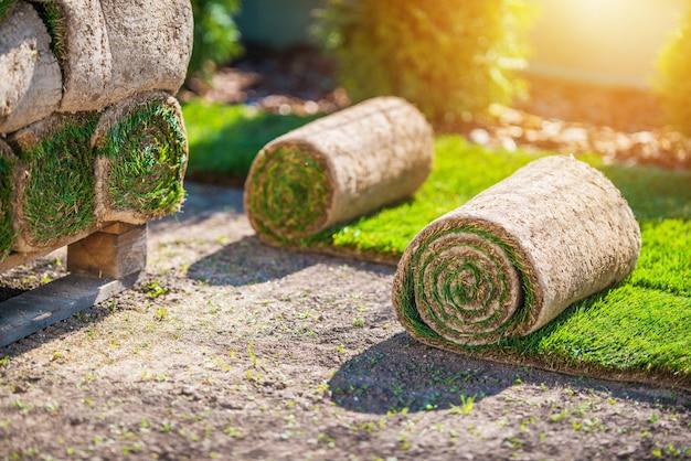 Preparación para la instalación de hierba