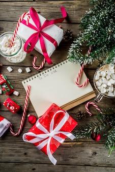 Preparación para vacaciones de navidad