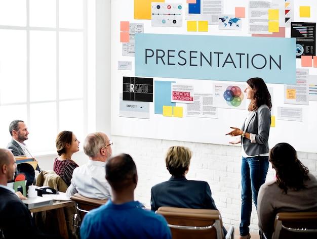 Presentación información discurso concepto formal