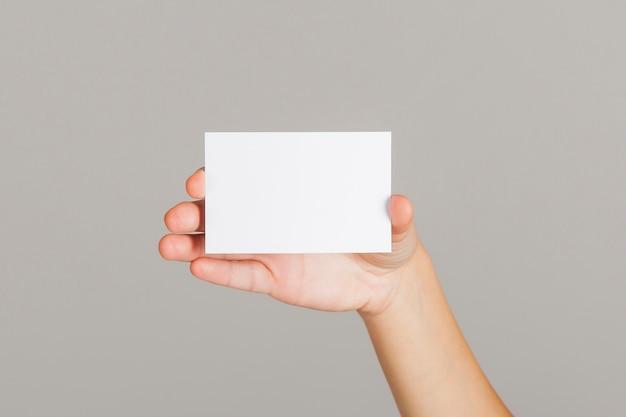 Presentación de tarjetas de visita