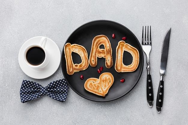Presente desayuno para el día del padre.