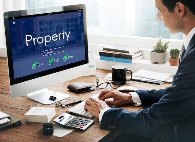 Préstamo de casa inmobiliaria vender concepto de hipoteca