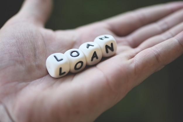 Préstamo financiero o préstamo para concepto de aprobación y acuerdo de préstamos para automóviles y viviendas