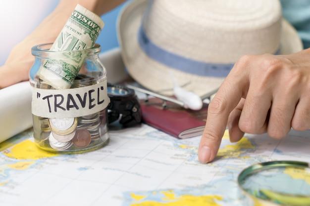 Presupuesto de viaje y accesorios para vacaciones