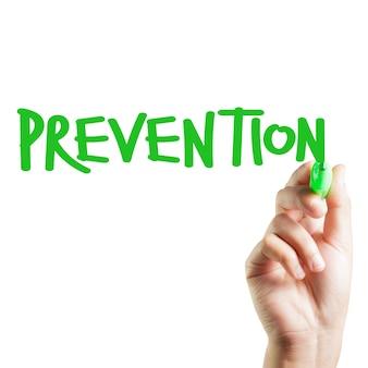 Prevención escrita a mano