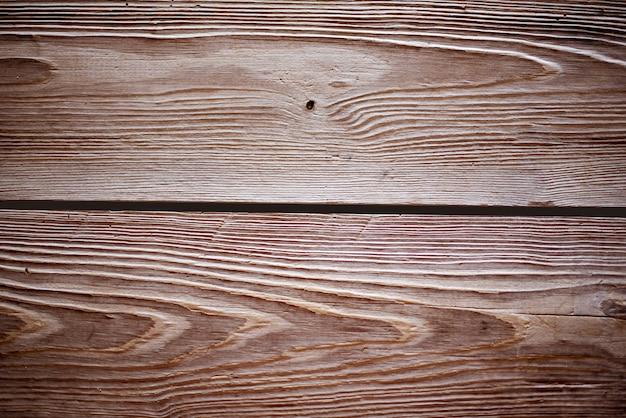 Primer disparo de la pared hecha de tablones horizontales de madera marrón - perfecto para papel tapiz fresco