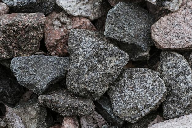 Primer natural de la textura de la piedra machacada