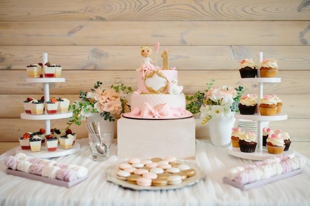 Primer pastel de cumpleaños para niña.