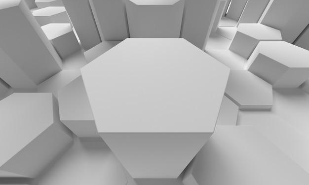 Primer plano 3d forma abstracta de panal