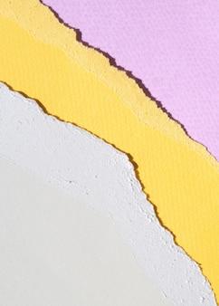 Primer plano abstracto bordes de papel rasgado