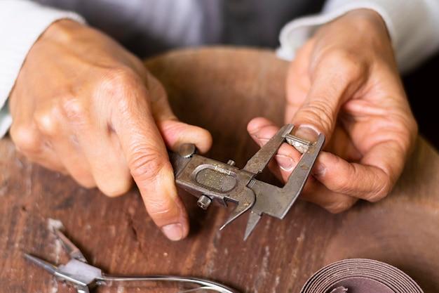 Primer plano del anillo de medición