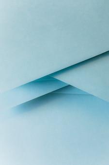 Primer plano de la bandera de papel de color azul pastel